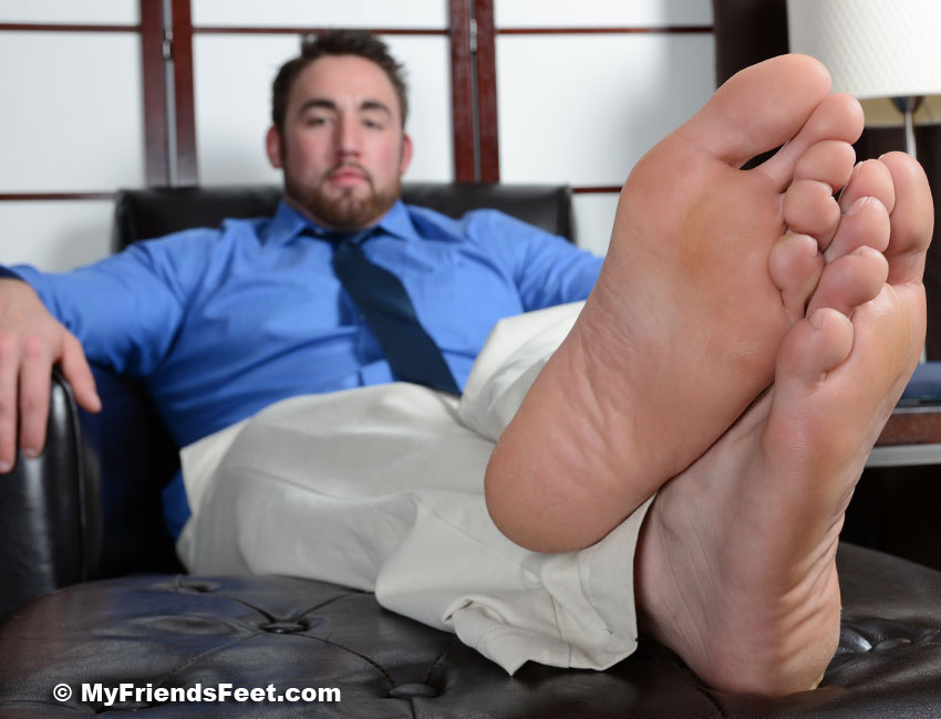 Male feet and male tickling at friends feet male foot