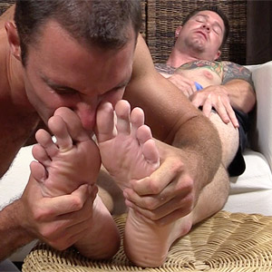 men's sock fetish foot worship
